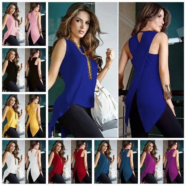 blouse, sleeveless, Fashion, Slim Fit