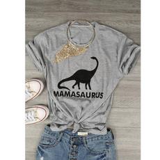 Funny, Dinosaur, Shirt, mamasauru