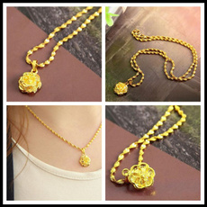 yellow gold, goldplated, Chain Necklace, Jewelry
