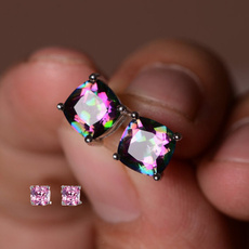 Sterling, rainbow, Jewelry, topazearring