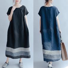 summer dress, Cotton, Necks, cottonlinendres