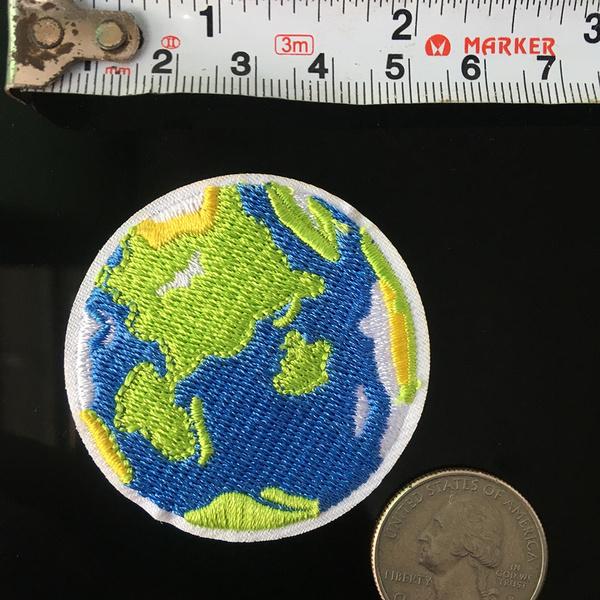 globepatch, irononapplique, decoration, Clothing & Accessories