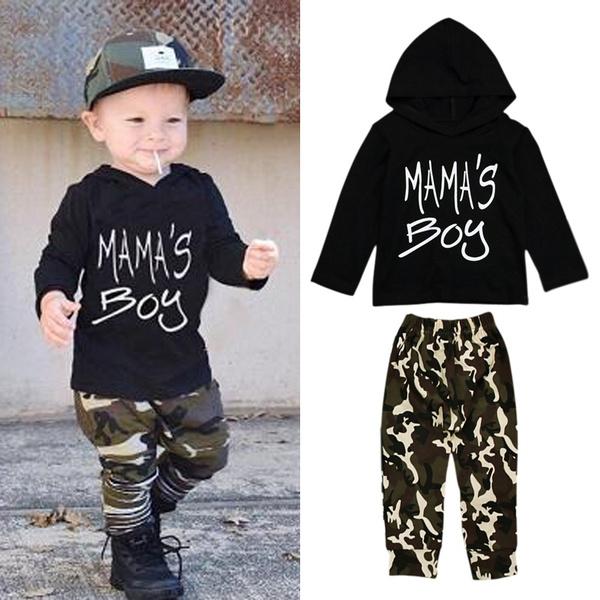 clothesset, Toddler, camouflage, Long Sleeve