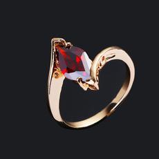 crystal ring, Princess, gold, Engagement Ring