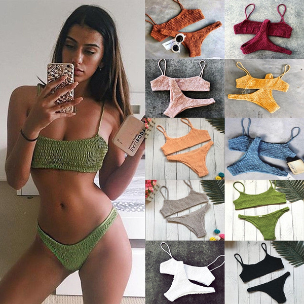 Triangles, bandage swimsuit, Fashion, women beachwear