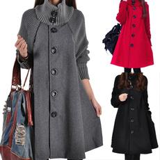 woolen coat, Plus Size, Winter, Long Coat