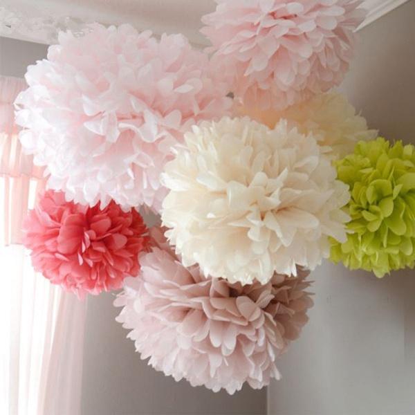 Flowers, Home Decor, pompom, Rose