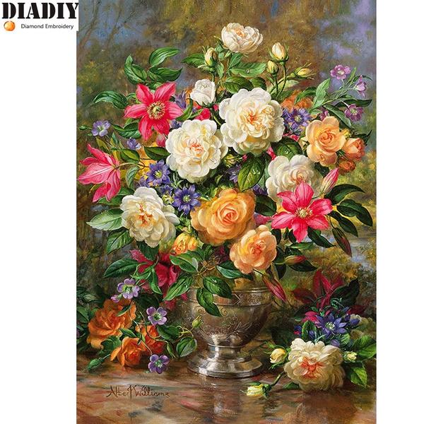 crossstitch, Plants, Flowers, Jewelry