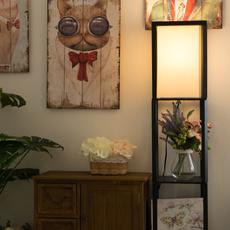 minimalistlamp, accentlightwoodenfloorlamp, Wooden, Shelf