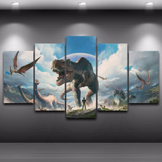canvasprint, modern abstract oil painting, dinosaurpainting, canvaspainting