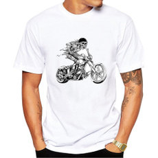 Mens T Shirt, shortsleevestshirt, Cotton T Shirt, skull