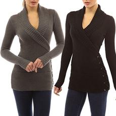 knitwear, Women Sweater, Invierno, Manga