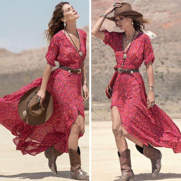 Fashion, chiffon, long dress, fashionforwomen