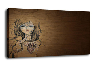 Heart, art, oilpaintingprint, Modern