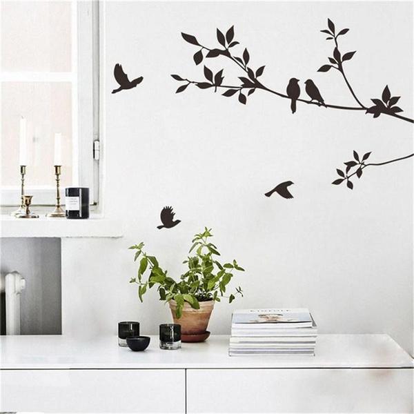leaves, art, birdswallpaper, Home Decor