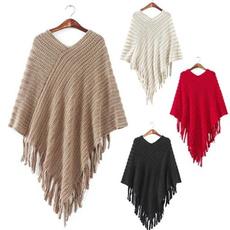 womencloak, cloak, batwingcape, tasselsponcho