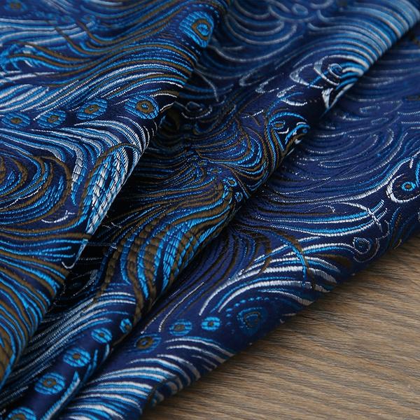 yarndyedfabric, peacock, patchworkfabric, Dress