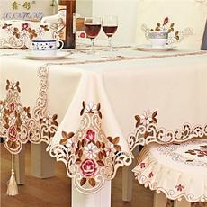 Decoración de hogar, Encaje, embroiderytablecloth, embroidered