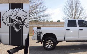 Dodge, both, hemi, skull