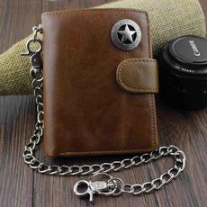 leather wallet, bikerwalletswithchain, Star, Chain
