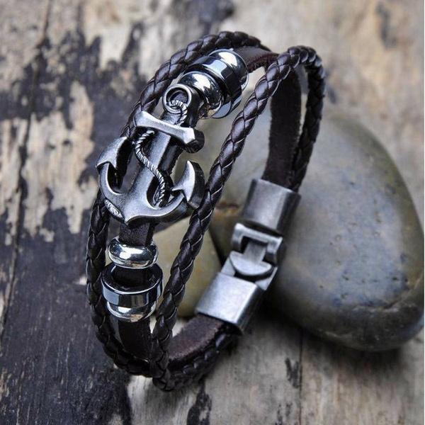 Men Jewelry, Leather Bracelet, Fashion, Jewelry