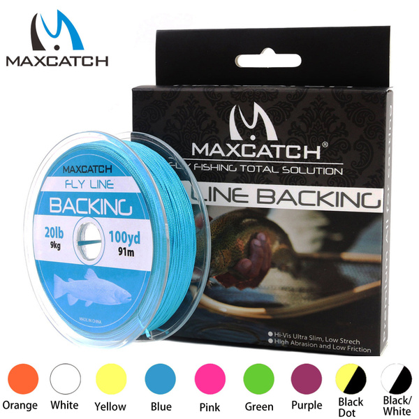 Maxcatch Fly Line Backing Line 20LB 30LB Dacron Braided 50yds-300yds Fly Fishing