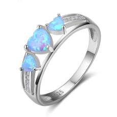 fireopalring, Blues, Silver Jewelry, 925 sterling silver