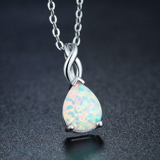 Sterling, gemstone jewelry, Chain Necklace, Fashion