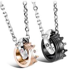 Fashion, Love, titanium steel necklace, crown