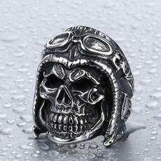 Men Jewelry, ringsformen, Goth, titanium steel