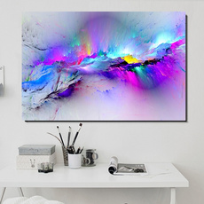pink, Decor, modern abstract oil painting, homedecorcanvaswallart