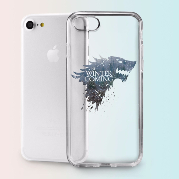 Game of Thrones Stark Design Tpu Silicone Cover Case Phone Shell Phone Case for Iphone X Iphone 5 Iphone 6 Iphone 6 Plus Iphone 6s Iphone7 8 Samsung ...