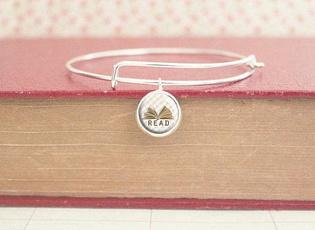Charm Bracelet, readerbracelet, Jewelry, Glass