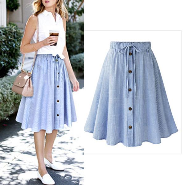 high waist skirt, short dress, Women Skirts, alinetshirt