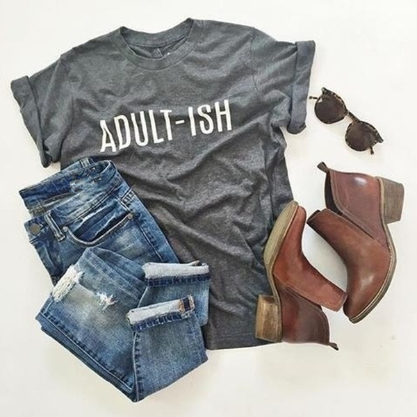 Funny, hipstersshirt, Cotton Shirt, letter print