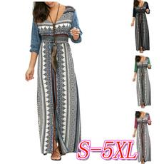 Summer, Waist, Swing dress, plus size dress