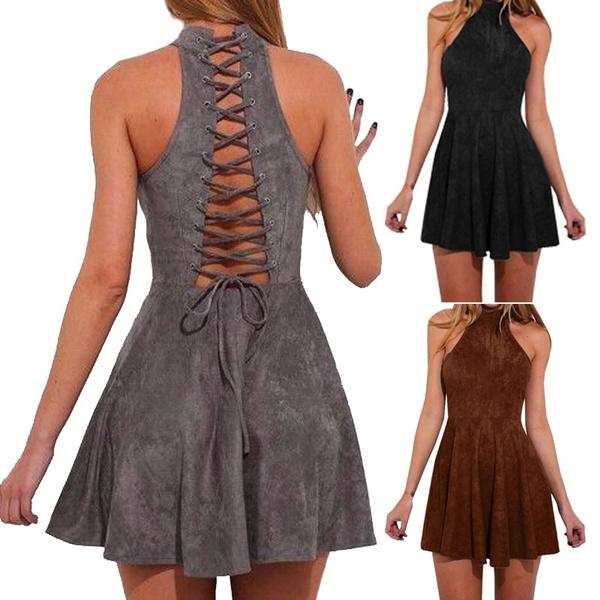 slim dress, Shorts, halter dress, short dress