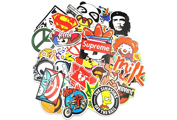 Laptop Stickers 200 pcs Random Sticker Pack Car Stickers Motorcycle Bicycle Luggage Decal Graffiti Patches Skateboard Waterproof Stickers