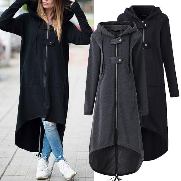 Hoodies, Fashion, Winter, Long Coat