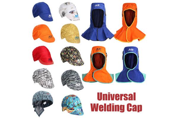 2xWelding Helmet Protective Hood Head Neck Protection Hood Flame Retardant