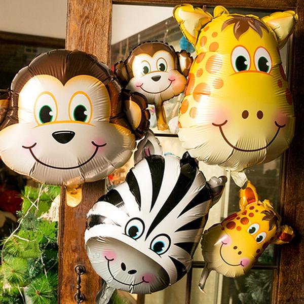 Tiger, cartoonanimalballoon, foilballoon, monkey