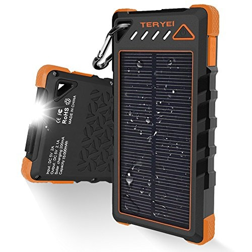 Solar Charger 15000mah Teryei Portable Solar Power Bank High Efficiency Solar Phone Charger With Solar Panel Dual Usb Cell Phone Battery Charger For Iphone Samsung And Emergency Outdoor Cool Wish