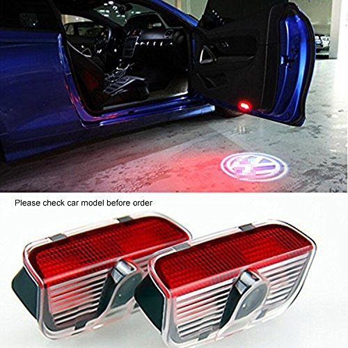 2PCS Universal Wireless Car Projection LED Projector Door Shadow Light Welcome