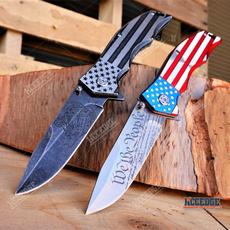 pocketknife, Outdoor, tacticalknifesurvival, usflagknife