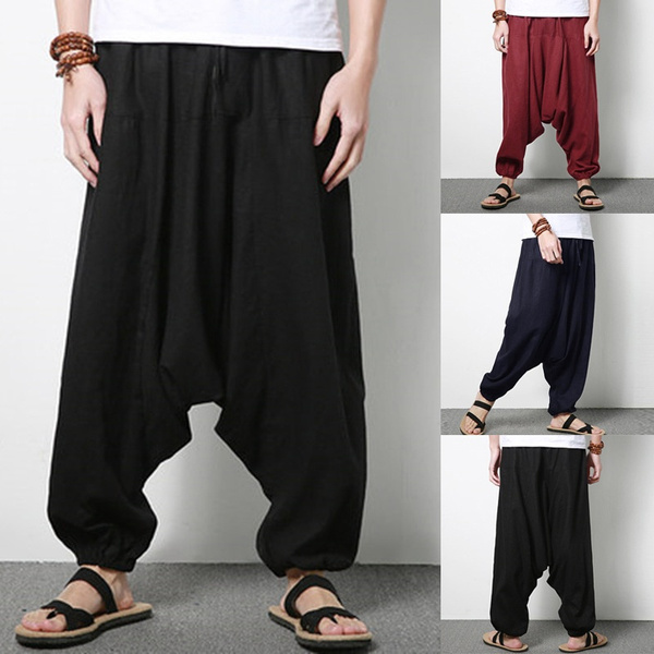 harem, trousers, Waist, Elastic