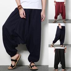 harem, elastic waist, widelegspant, Elastic