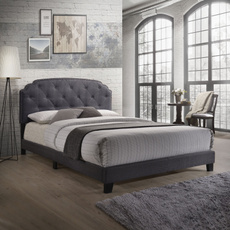 tufted, Bedroom Furniture, Home & Living, Grey