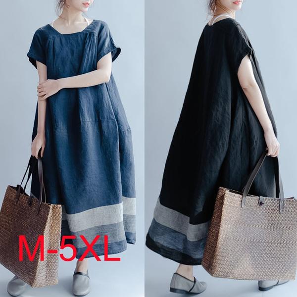 Summer, short sleeve dress, women's dress, Vintage