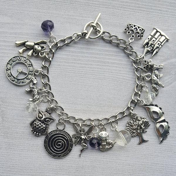 Charm Bracelet, Fashion, Jewelry, labyrinth
