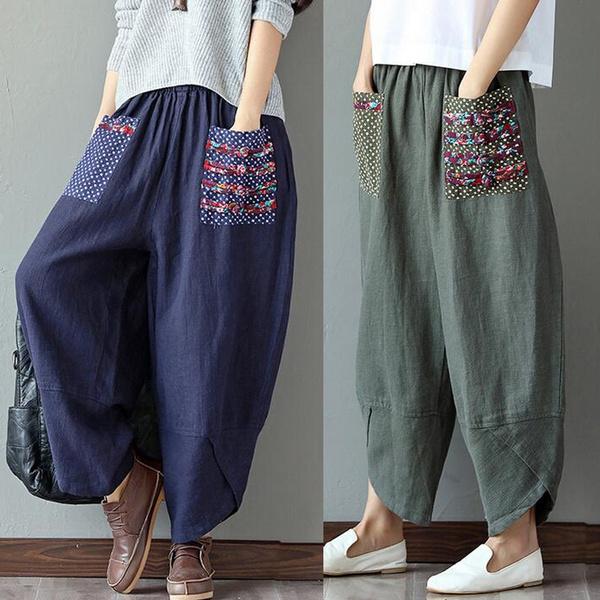 bohemianpant, Pocket, dropcrotch, trousers